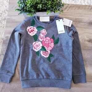 Hudson Kids Garden Pullover Top Girls Floral NWT